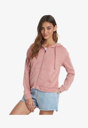 Zip-up hoodie - ash rose