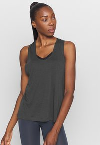 Filippa K - TWIST LAYER TANK - Topper - coal - 0