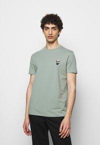 KARL LAGERFELD - CREWNECK - Print T-shirt - jade green - 0