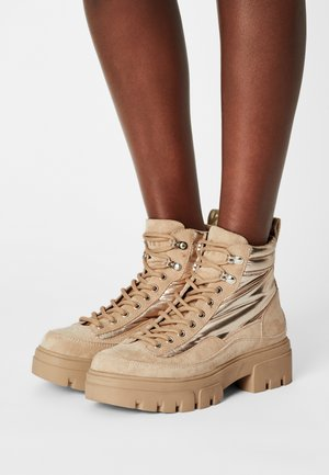 MARYWOOD - Lace-up ankle boots - beige