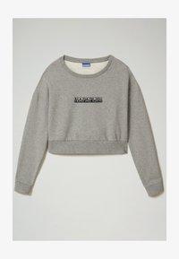 Napapijri - B-BOX CROPPED C - Sweatshirt - medium grey melange - 0