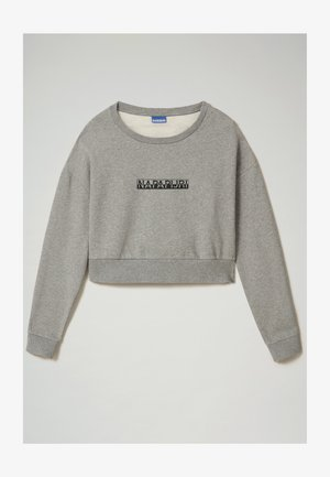 B-BOX CROPPED C - Sudadera - medium grey melange