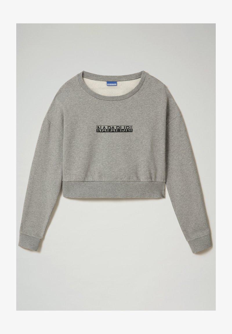 Napapijri - B-BOX CROPPED C - Sweatshirt - medium grey melange