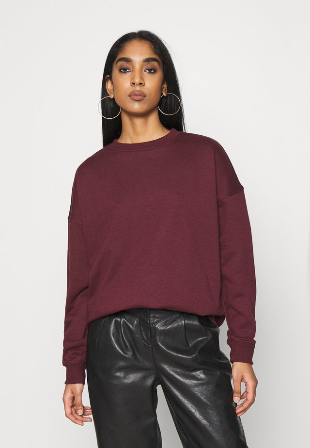 BASIC OVERSIZED  - Bluza - burgundy