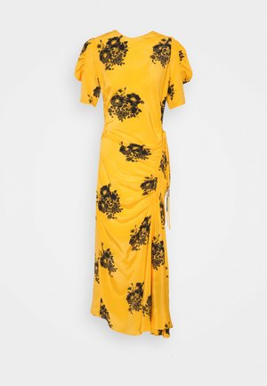 FLORAL PRINT DRESS - Robe longue - dark yellow