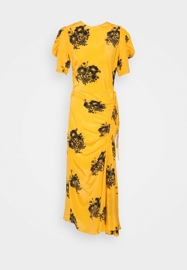 FLORAL PRINT DRESS - Maxi dress - dark yellow