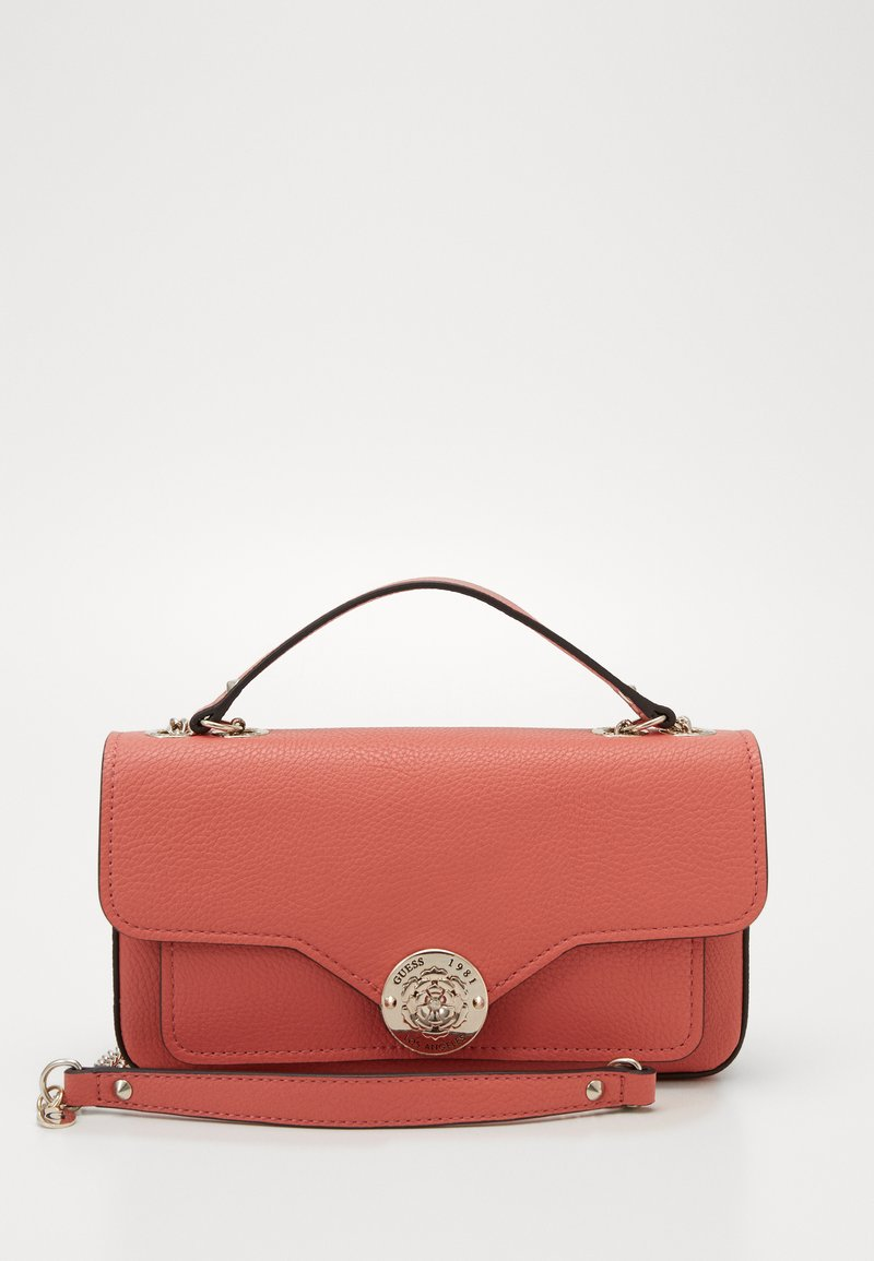 Guess - BELLE ISLE XBODY FLAP - Kabelka - coral