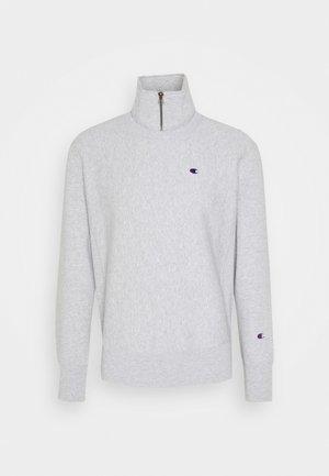 HALF ZIP - Sweatshirt - mottled light grey