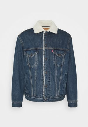 VTG FIT TRUCKER UNISEX - Veste en jean - dark blue denim