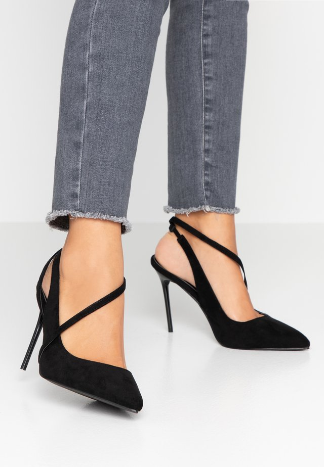 WIDE FIT JANESSA - Escarpins à talons hauts - black