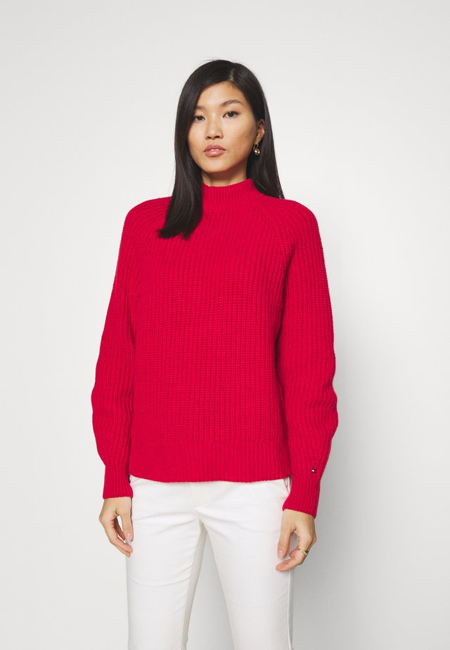 MOCK - Sweter - cornell red