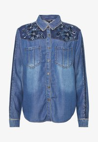 Desigual - CAM FLOWINGS - Blouse - denim medium wash - 3
