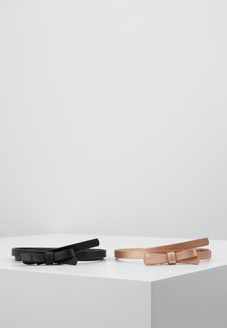 Even&Odd - 2 PACK - Belt - black/rose gold