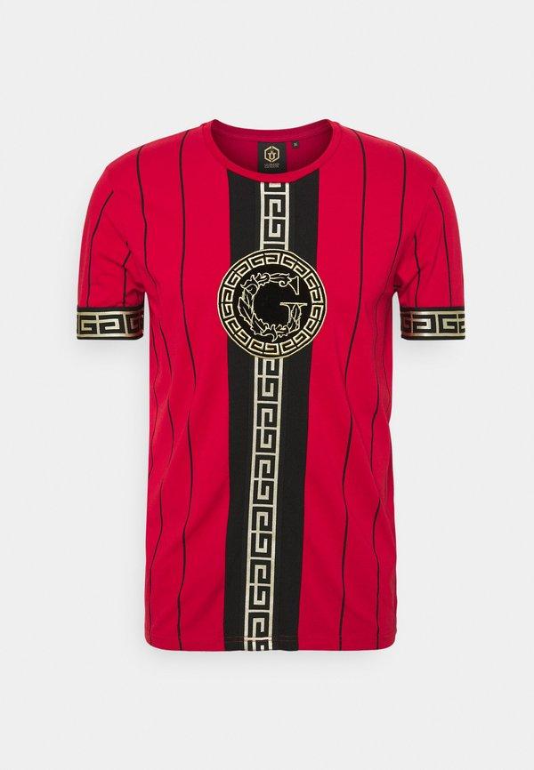 Glorious Gangsta SANTAGO TEE - T-shirt z nadrukiem - racing red/czerwony Odzież Męska TMPE