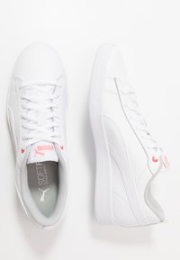 Puma - SMASH - Sneakers basse - white/salmon rose/gray violet - 3