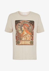 Even&Odd - HATTIE WITH MUCHA AND KLIMT - T-shirts med print - off white - 3