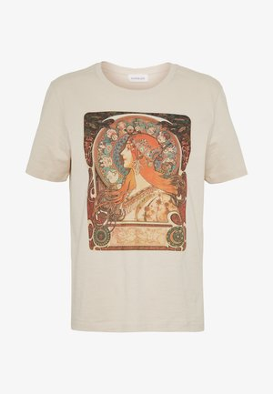 HATTIE WITH MUCHA AND KLIMT - Triko s potiskem - off white