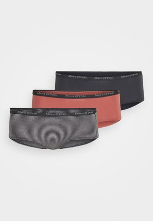 3 PACK  - Pants - dark grey/salmon