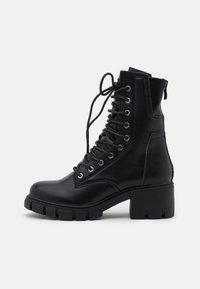 Missguided - LACE UP EYELET - Lace-up ankle boots - black - 1