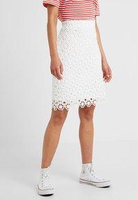 Anna Field Petite - Pencil skirt - white - 0