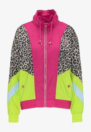 Windbreaker - pink c.block