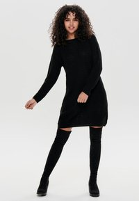 JDY - JDYTERI LS DRESS - Strikkjoler - black - 1