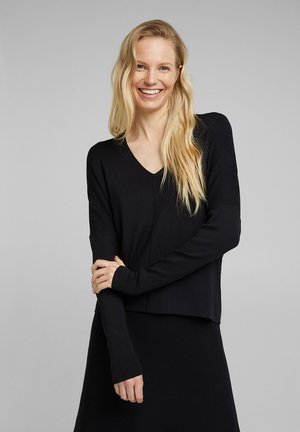 MIT V-NECK - Jumper - black
