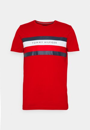 STRIPE TEE - T-shirt print - red
