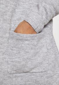 Pieces - PCPERLA LONG CARDIGAN - Cardigan - light grey melange - 5