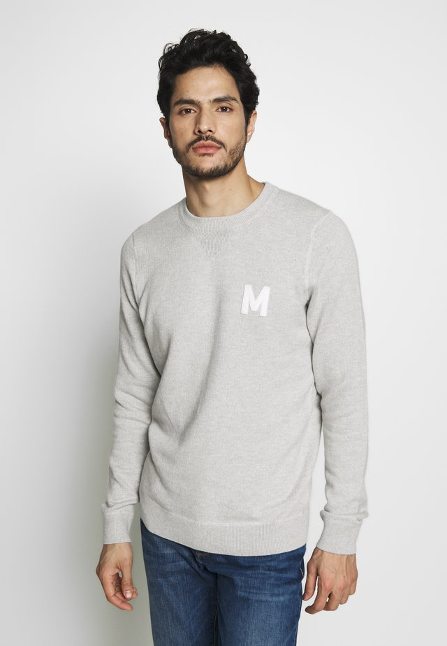 EMIL - Stickad tröja - light grey melange