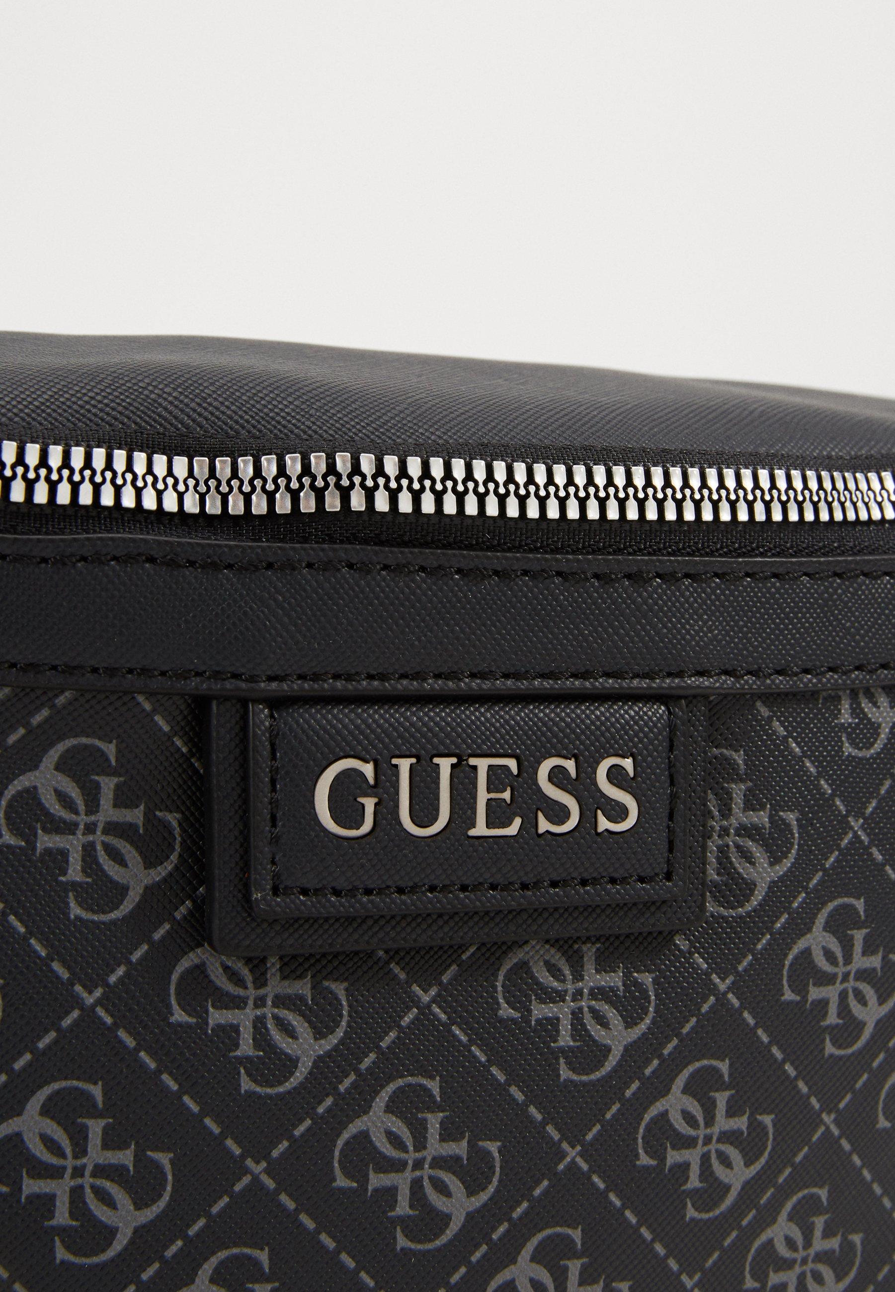 Guess DAN LOGO BUM BAG - Rumpetaske - black/svart iETL4Y6z3jegsOE