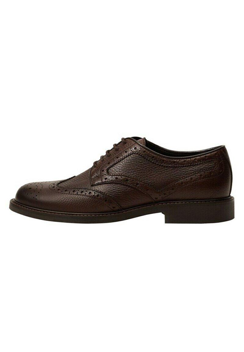 Homme DERBY I LASERSKÅRET LÆDER - Chaussures à lacets