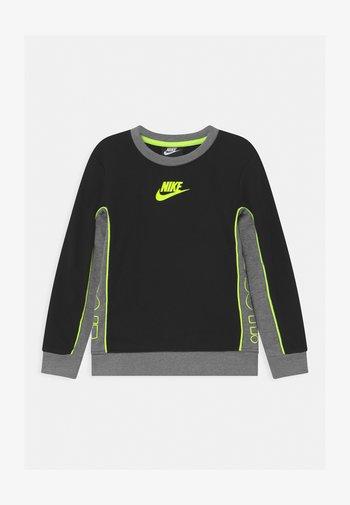 COLOR BLOCKED CREW - Sweatshirt - black