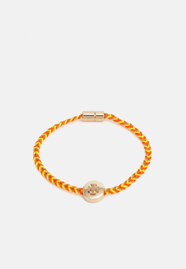 KIRA BRAIDED BRACELET - Bracelet - gold-coloured/ candied orange