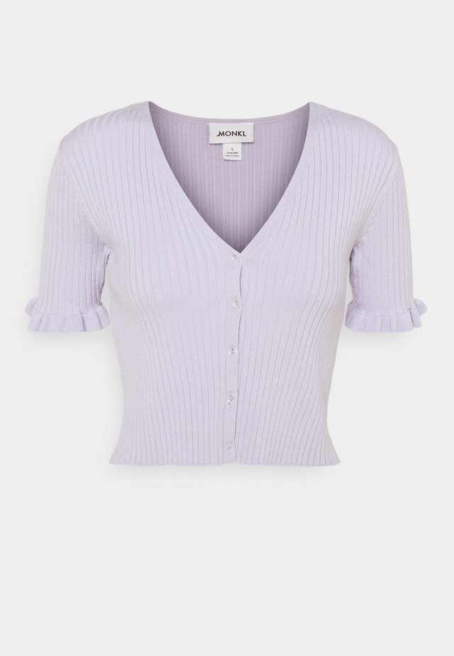 SALMA CARDIGAN - Strickjacke - lilac purple dusty light lila