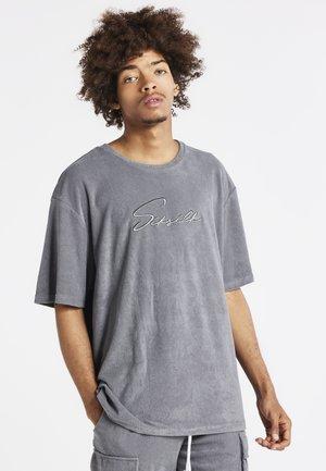 T-shirt med print - grey