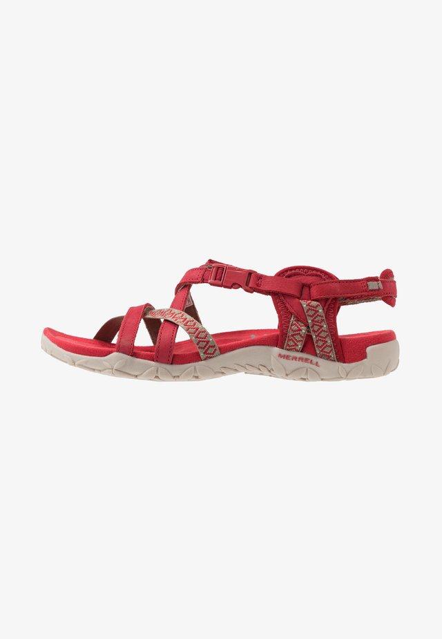 TERRAN LATTICE II - Walking sandals - chili