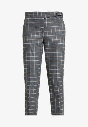 AVERY TIE WAIST LARGE SCALE GRID - Kalhoty - dark heather grey