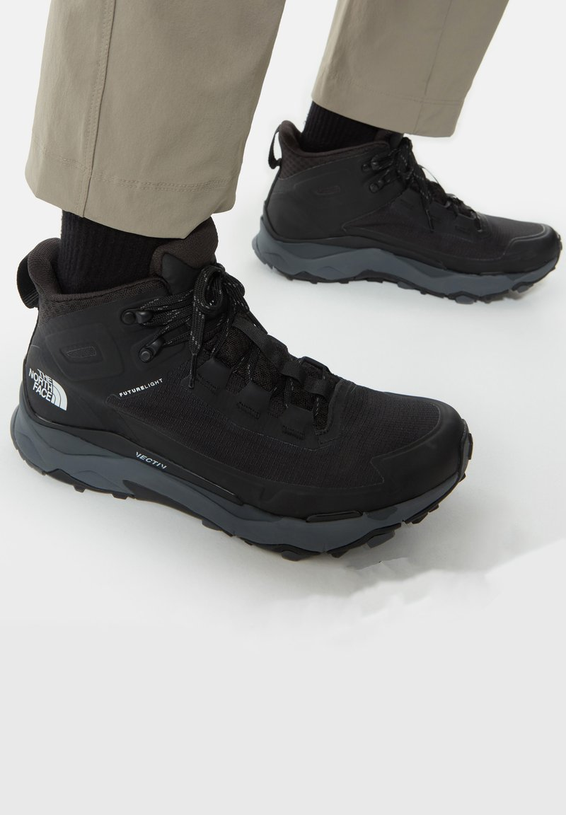 The North Face - M VECTIV EXPLORIS MID FUTURELIGHT - Hiking shoes - tnf black/zinc grey
