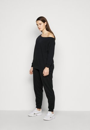 SET SWEAT AND JOGGERS - Sweatshirt - black