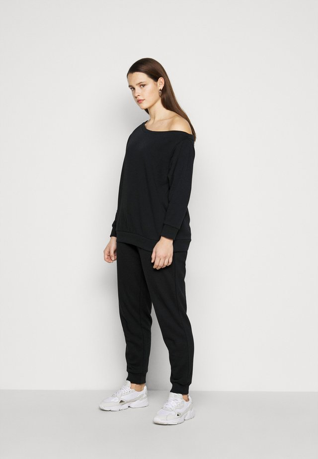 SET SWEAT AND JOGGERS - Felpa - black