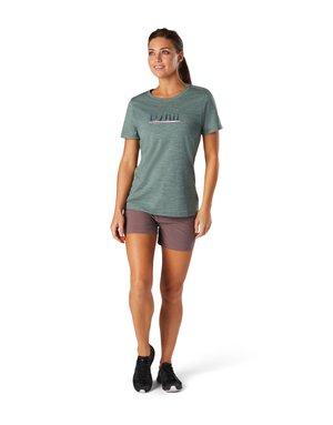 Print T-shirt - sage heather