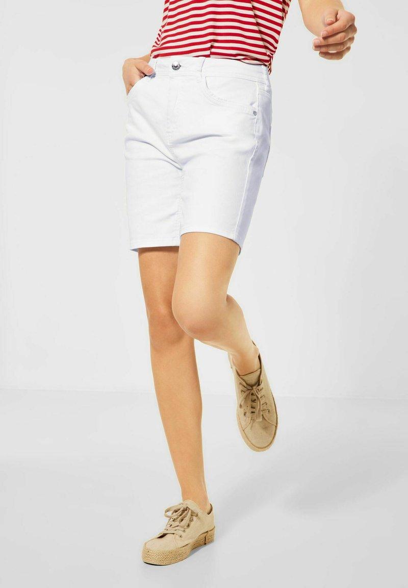 Street One - Denim shorts - weiß