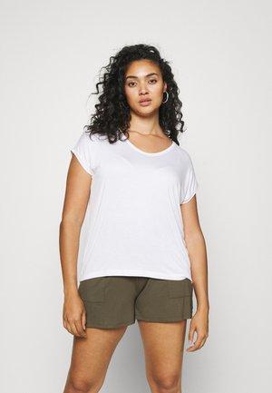 PCBILLO TEE SOLID - Jednoduché triko - bright white