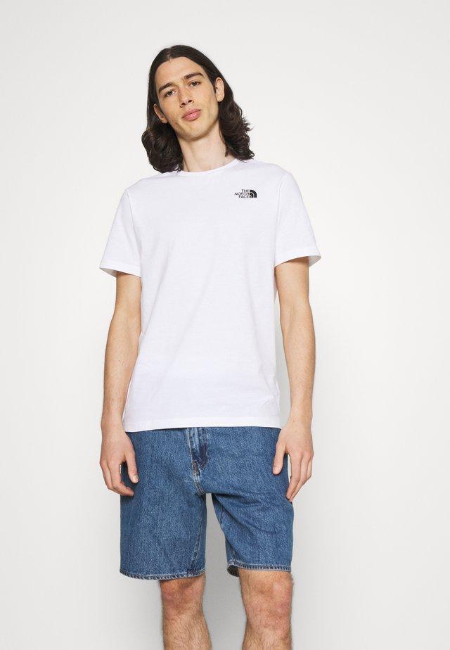 SLICE TEE - T-shirt imprimé - white