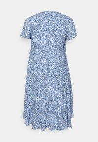 Forever New Curve - KIRI SPLIT SLEEVE WRAP DRESS - Day dress - blue - 1