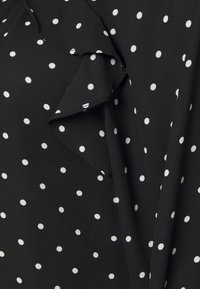 Dorothy Perkins Curve - MONO SPOT RUFFLE 3/4 SLEEVE - Long sleeved top - black - 2