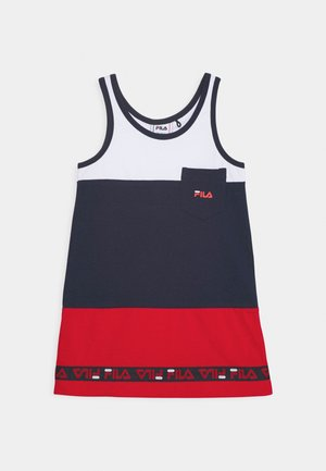 DORY TAPED TEE DRESS - Vestido ligero - black iris/true red/bright white