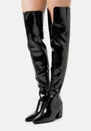 PHYLLIS - Overknee laarzen - black