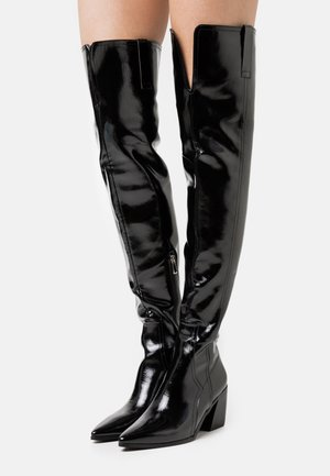 PHYLLIS - Kozačky nad kolena - black